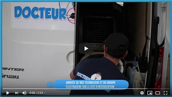 vidéo sur l'extermination des punaises de lit par canon à chaleur